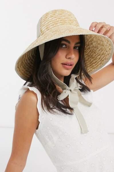 Chapeau en paille avec calotte haute, Asos Design, 24,99€