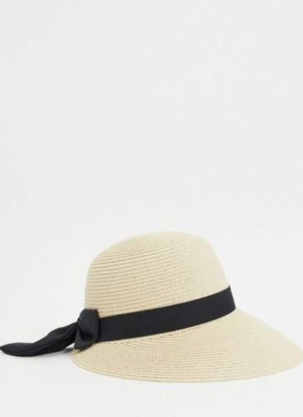 Chapeau style gavroche en paille, My Accessories London, 19,99€ sur Asos