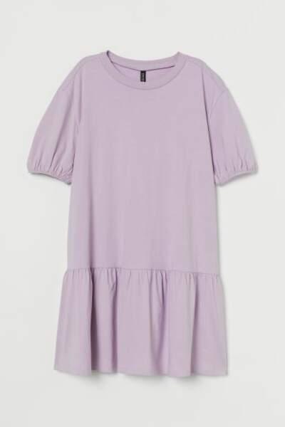 Robe en jersey lilas, H&M, actuellement à 9,99€