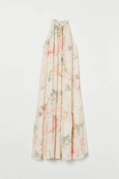 Robe longue imprimé fleuri, H&M, 17,99€