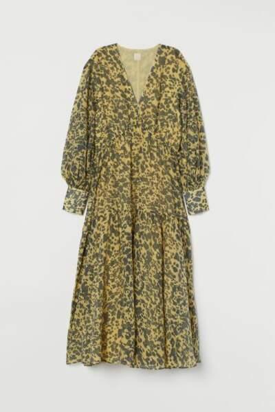 Robe longue en lyocell mélangé, H&M, 24,99€