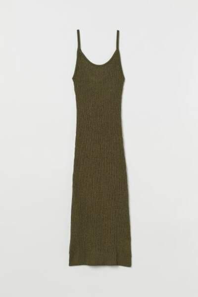 Robe moulante en maille, H&M, 12,99€