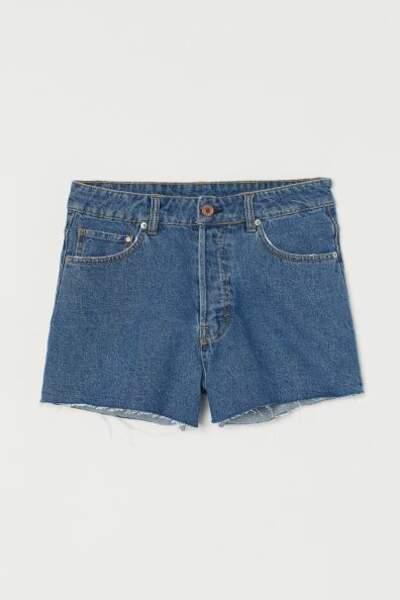 Short en jean vintage, H&M, 9,99€