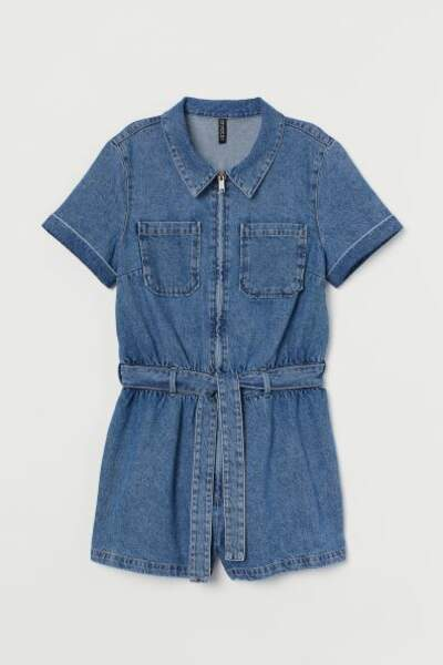 Combi-short en denim, H&M, 12,99€