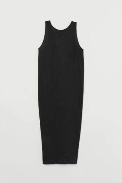 Robe en lin décolleté dos, H&M, 17,99€