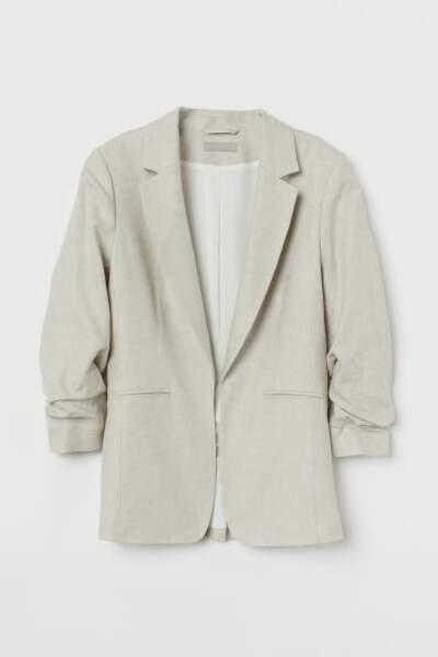 Blazer en lin mélangé, H&M, 24,99€
