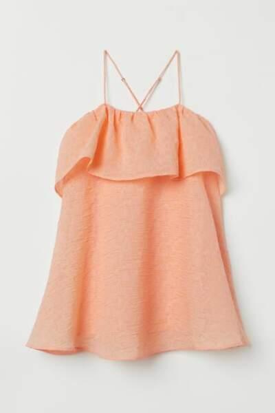 Robe trapèze abricot, H&M, 12,99€