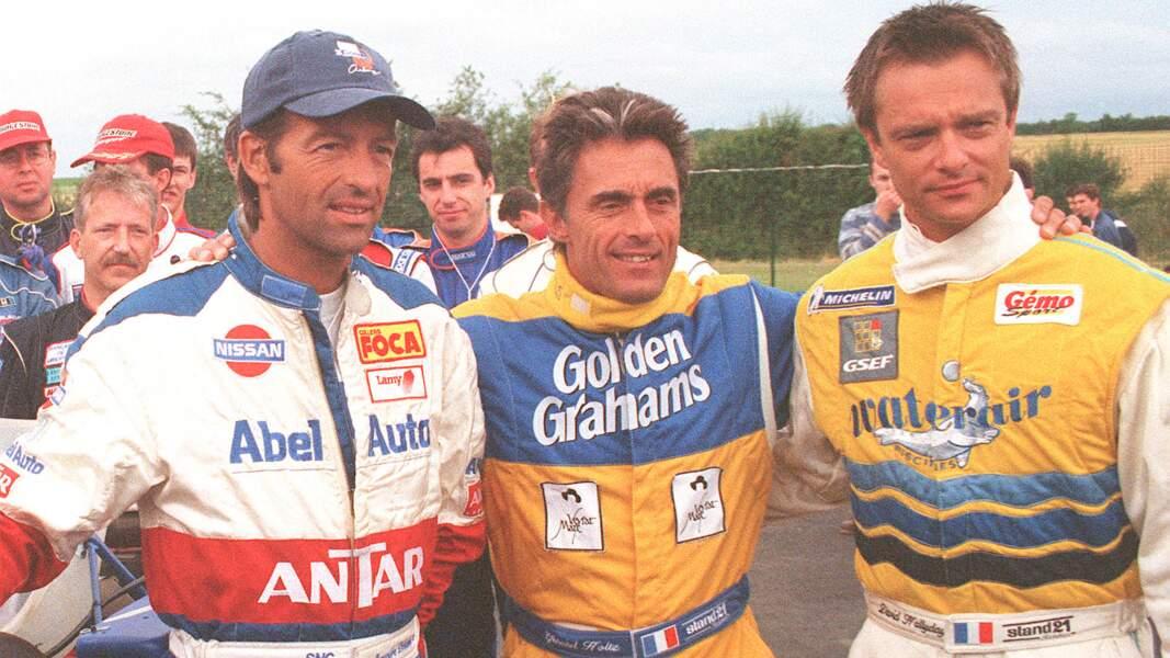 Avec Gérard Holtz et Alexandre Debanne en 1999