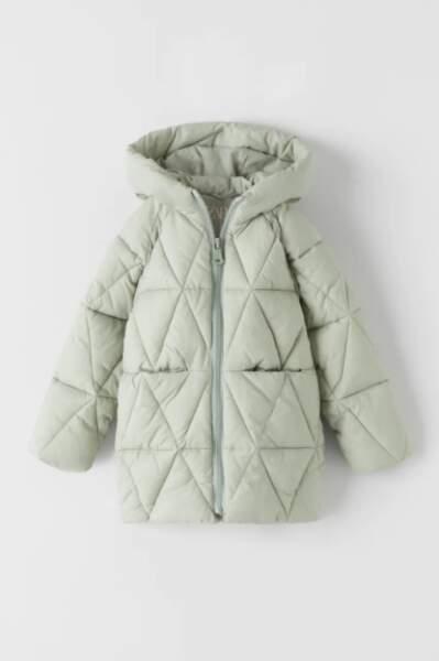Manteau à matelassage fille, Zara, 39,95€