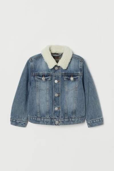 Veste en jean doublée, H&M, 29,99€