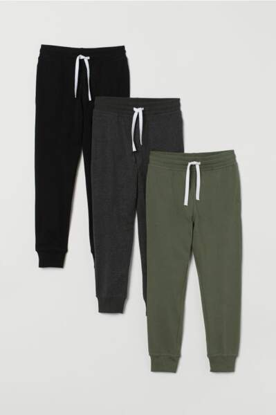 Lot de 3 pantalons jogger, H&M, 29,99€