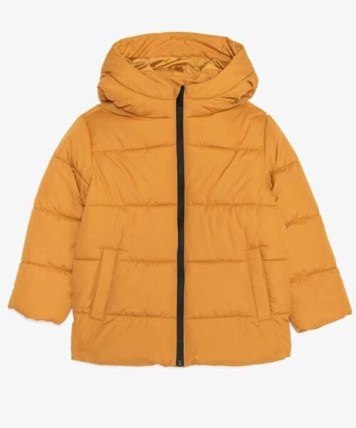 Doudoune garçon à capuche et zip imperméable, Gémo, 19,99€
