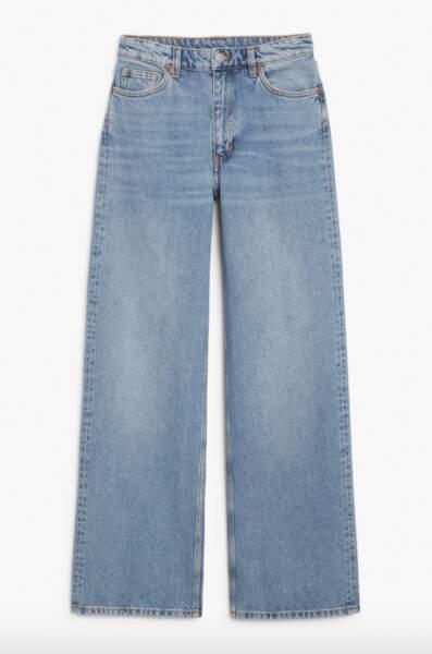 Yoko mid blue jeans, Monki, 40€