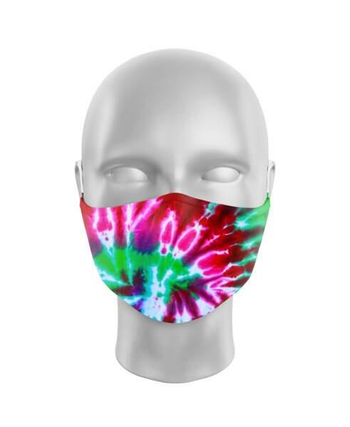 Masque en tissu imprimé tie & dye, Mister Masque, 12€