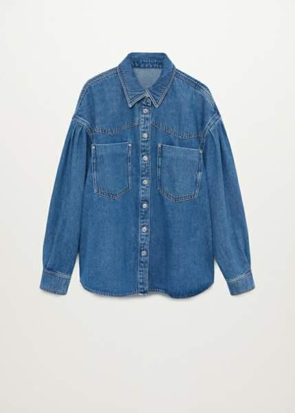 Surchemise en coton à poches, Mango, 49,99€