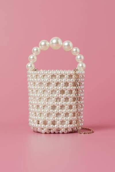 Sac seau avec perles fantaisie, H&M, 34,99€