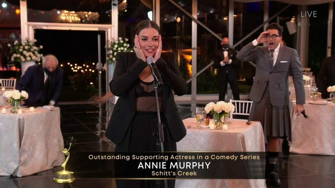 Annie Murphy, sacrée meilleure actrice dans un second rôle pour Schitt's Creek