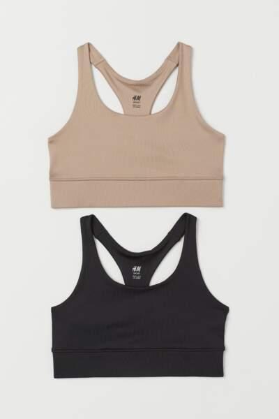 Lot de deux soutiens-gorge, H&M, 24,99€