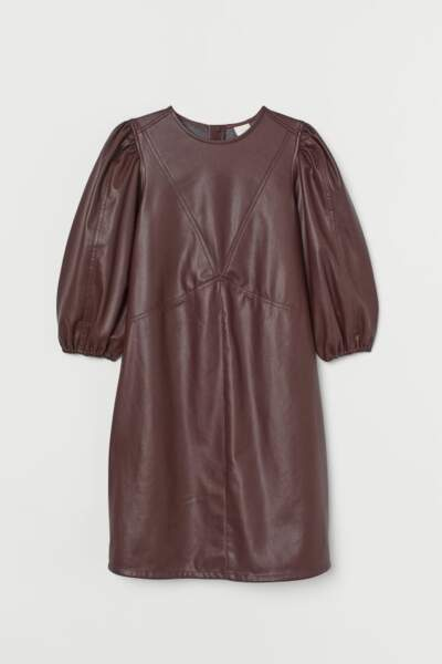 Robe en simili cuir, H&M, 29,99€