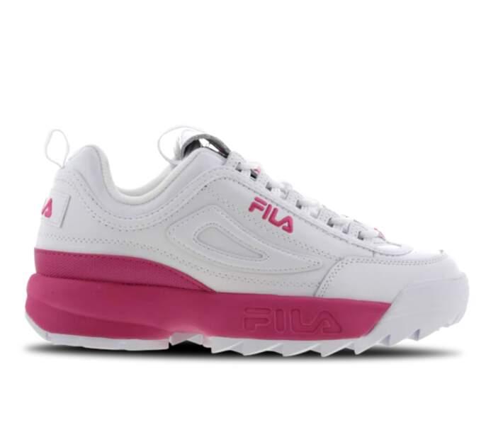 """Dad Shoes """"Disruptor II"""", Fila, actuellement à 49,99€ chez Foot Locker"""