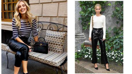 Chiara Ferragni: comme la it-girl, on craque pour le pantalon en simili cuir