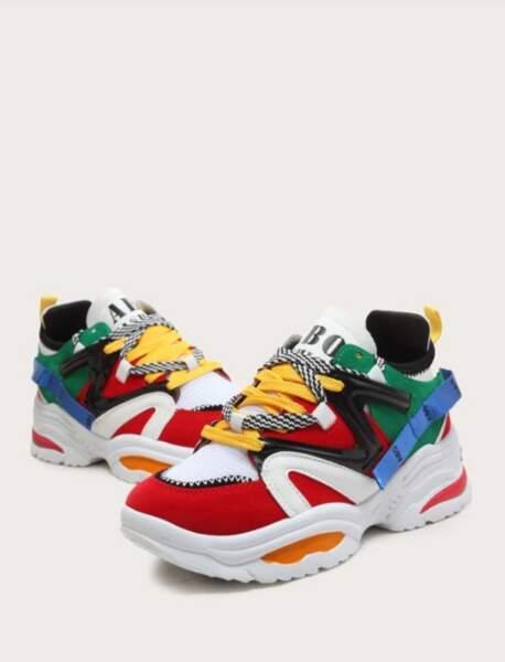 Dad shoes multicolores, Shein, 24€