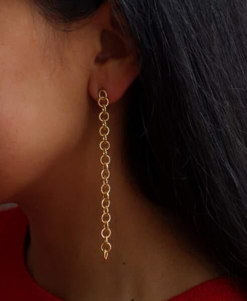 Boucles d'oreilles pendantes Roma, Elis sur Joobee, 39€