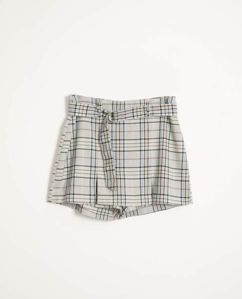 Jupe short à carreaux, Pimkie, 19,99 €