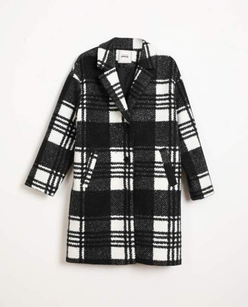 Manteau à carreaux, Pimkie, 59,99 €