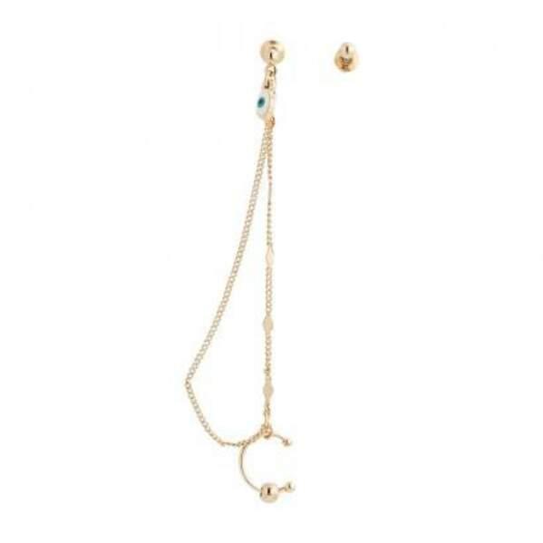 Boucles d'oreilles pendantes studs et chaîne neo precious, Balaboosté, 7,90€
