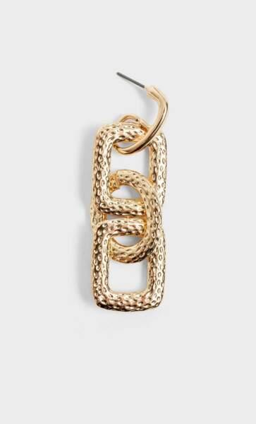 Boucles d'oreilles pendantes chaînes, Stradivarius, 7,99€