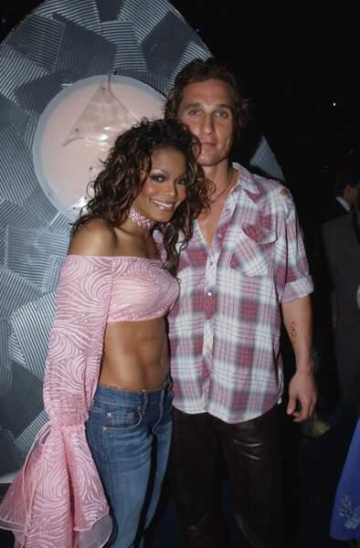 Janet Jackson et Matthew McConaughey en 2002