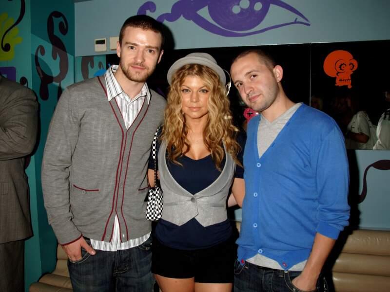 Fergie et Justin Timberlake en 2003