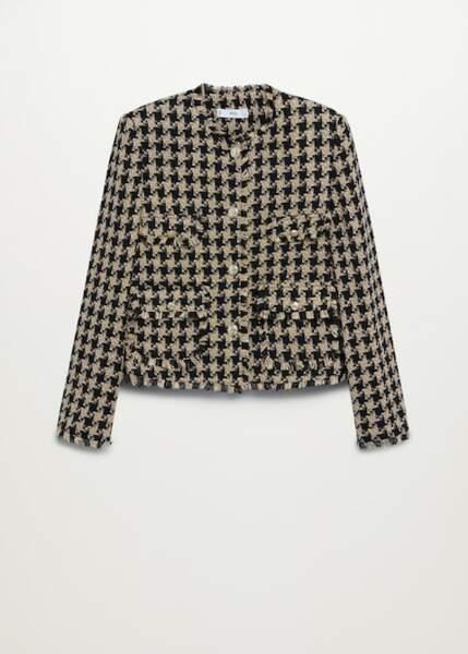Veste en tweed à poches, Mango, 69,99€