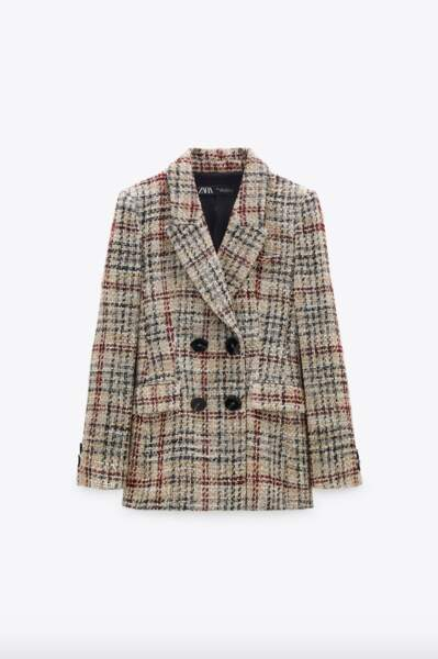 Veste structurée en tweed, Zara, 69,95€