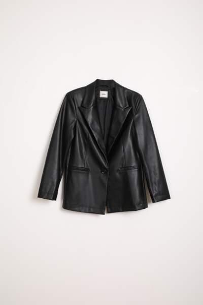 Veste blazer en simili cuir, Pimkie, 29,99€