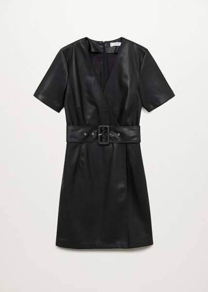 Robe effet cuir, Mango, 49,99€