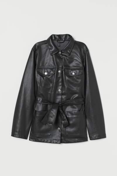 Veste en simili cuir, H&M, 59,99€
