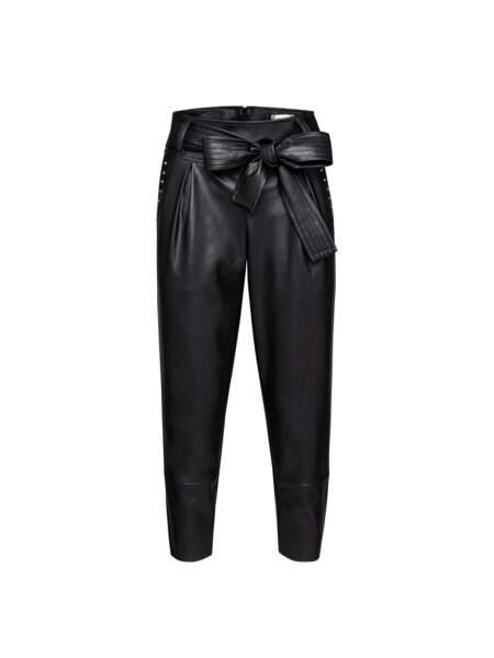 Pantalon en simili cuir, Kaporal, 85€