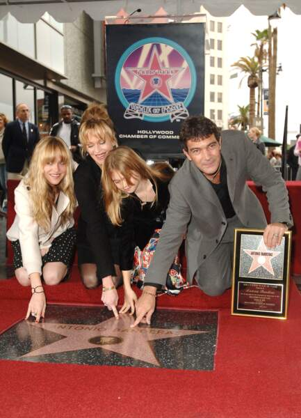 Antonio Banderas, Melanie Griffith, Stella Banderas et Dakota Johnson