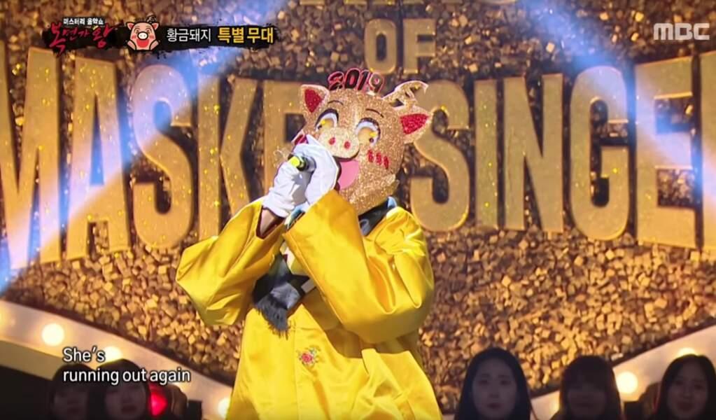 Ce cochon dans le Mask Singer coréen était...