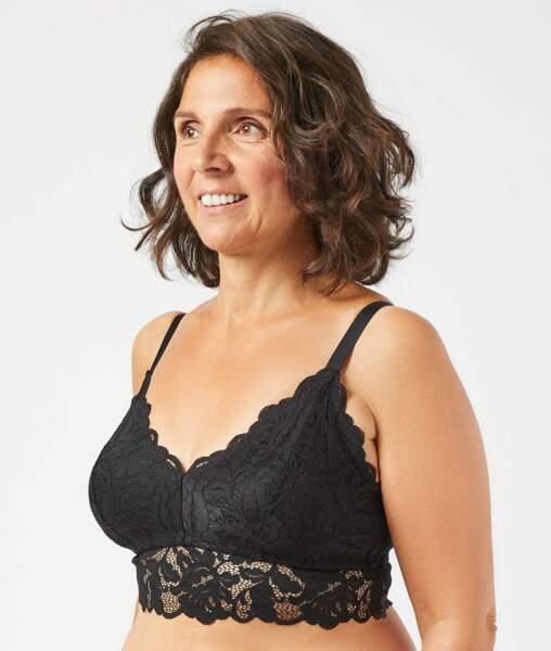 Triangle post-mastectomie sans armatures, Etam, 32,99€