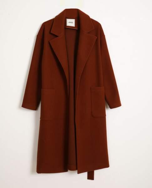 Manteau long à ceinture, Pimkie, 65,99€