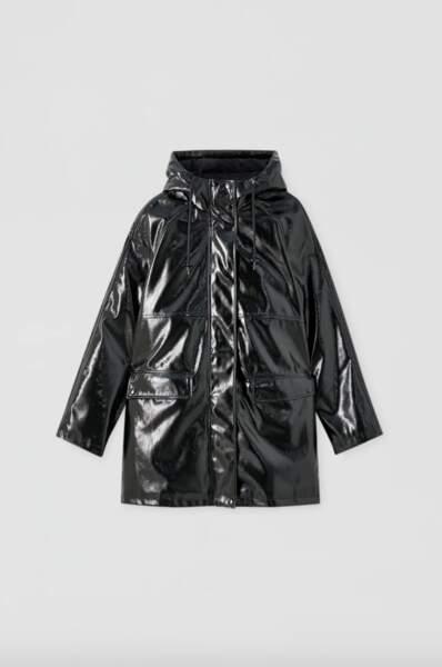 Ciré cuir verni noir, Pull & Bear, 45,99€