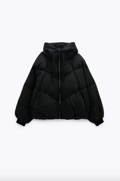 Veste rembourrée déperlante, Zara, 49,95€