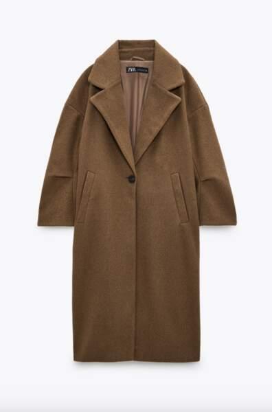 Manteau oversize, Zara, 59,95€