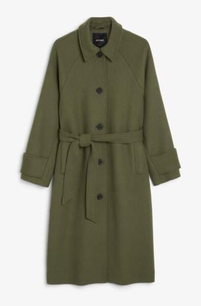 Tailored coat khaki, Monki, 90€