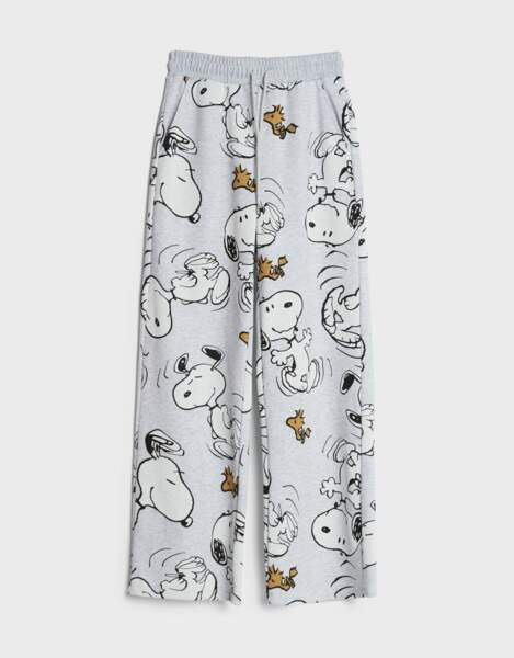 Pantalon Snoopy Wide Leg, Bershka, 25,99€