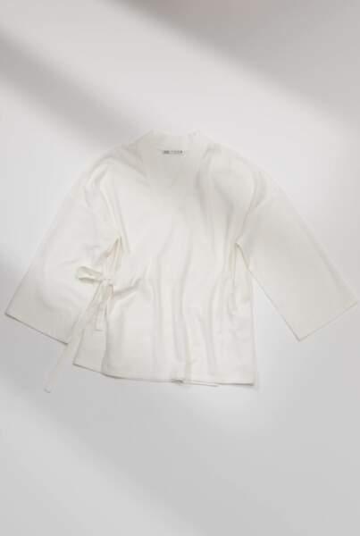 Haut de pyjama en coton, Zara, 39,95€