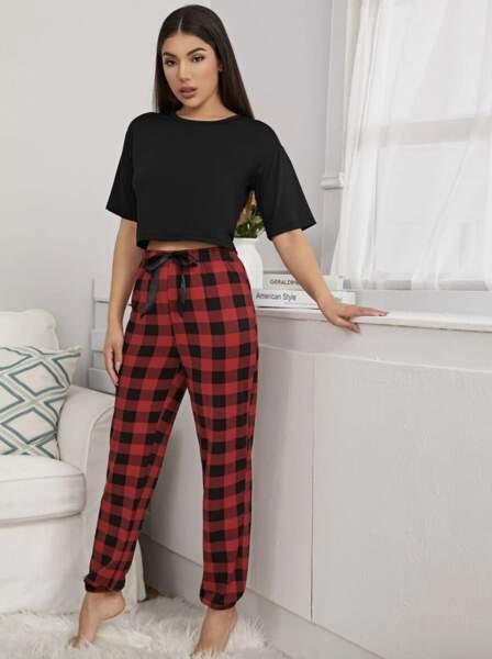 Ensemble de pyjama à carreaux, SHEIN, 14€